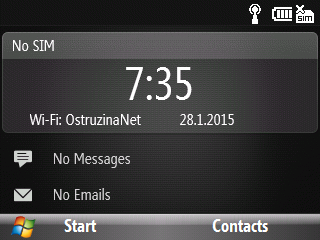 Home screen Windows Mobile 6