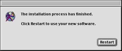 Software Update dokončil instalaci.