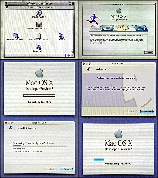 Instalace Mac OS X DP3