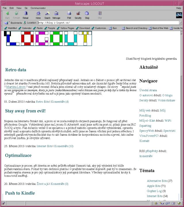 Netscape Navigator 4.78 a WWW