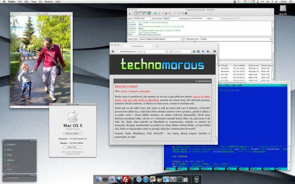 Mac Mini G4 desktop with OS X 10.4, June 2019